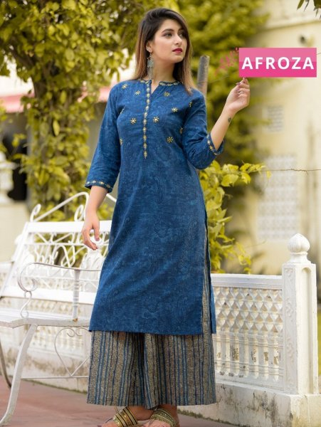 Cotton-Slub-Kurta-Set-with-Embroidery