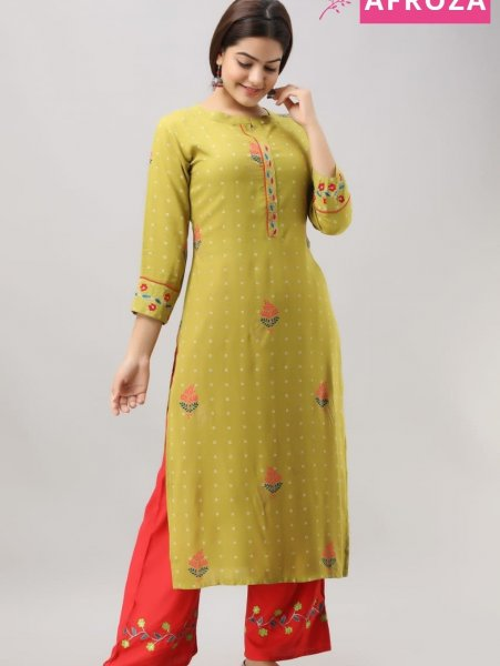 Rayon-Kurta-Set-with-Aari-Embroidery